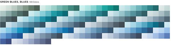 GREEN BLUES, BLUES 261 Colors