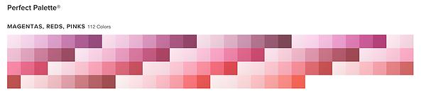 MAGENTAS, REDS, PINKS 158 Colors