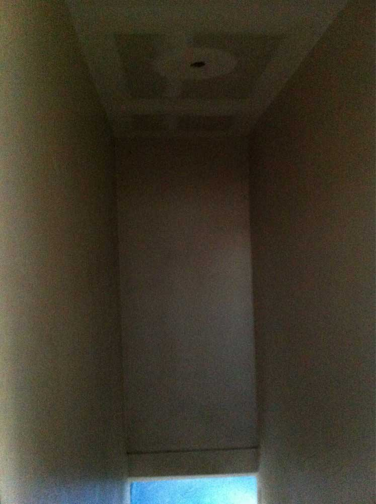 no more popcorn ceiling on stairwell