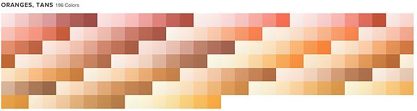 ORANGES, TANS 233 Colors