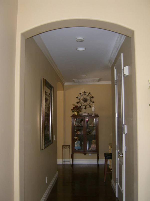 All doorways had rounded arches added
